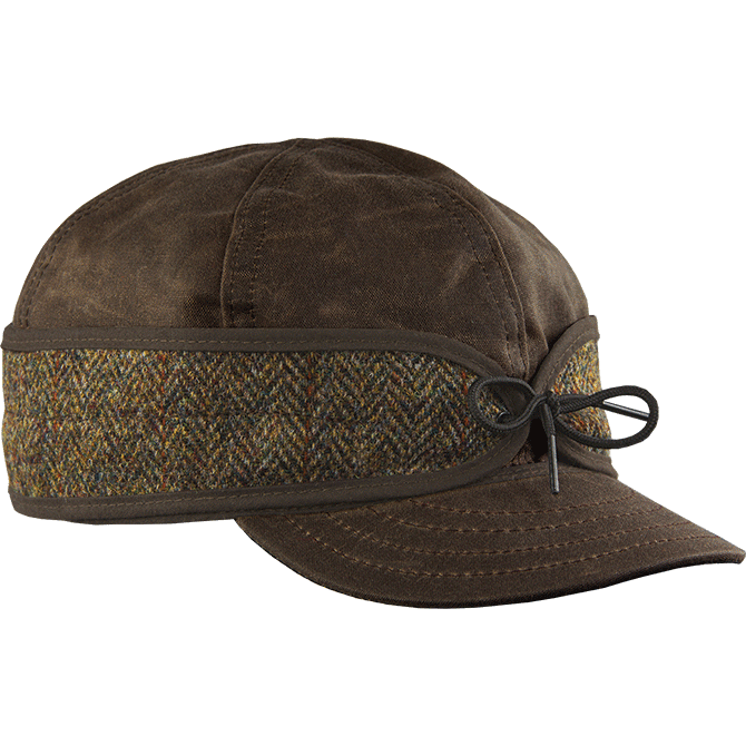 Mcleod Waxed Cotton Cap With Harris Tweed Porteen Gear
