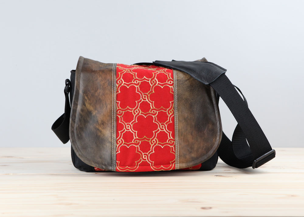 Red Gold Camera Bag