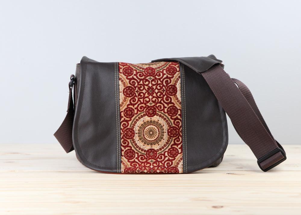 Handmade Leather Camera Bag Satchel Flame Scrolls Dslr Pre Order