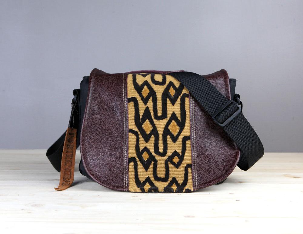 Golden Black Leather Camera Satchel Bag DSLR- PRE-ORDER