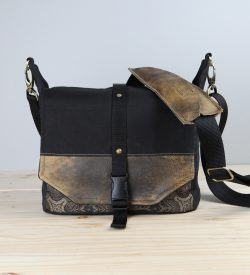 Handmade Travel Camera Bag Backpack Packable Camera Bag Waxed Canvas And Leather Porteen Gear