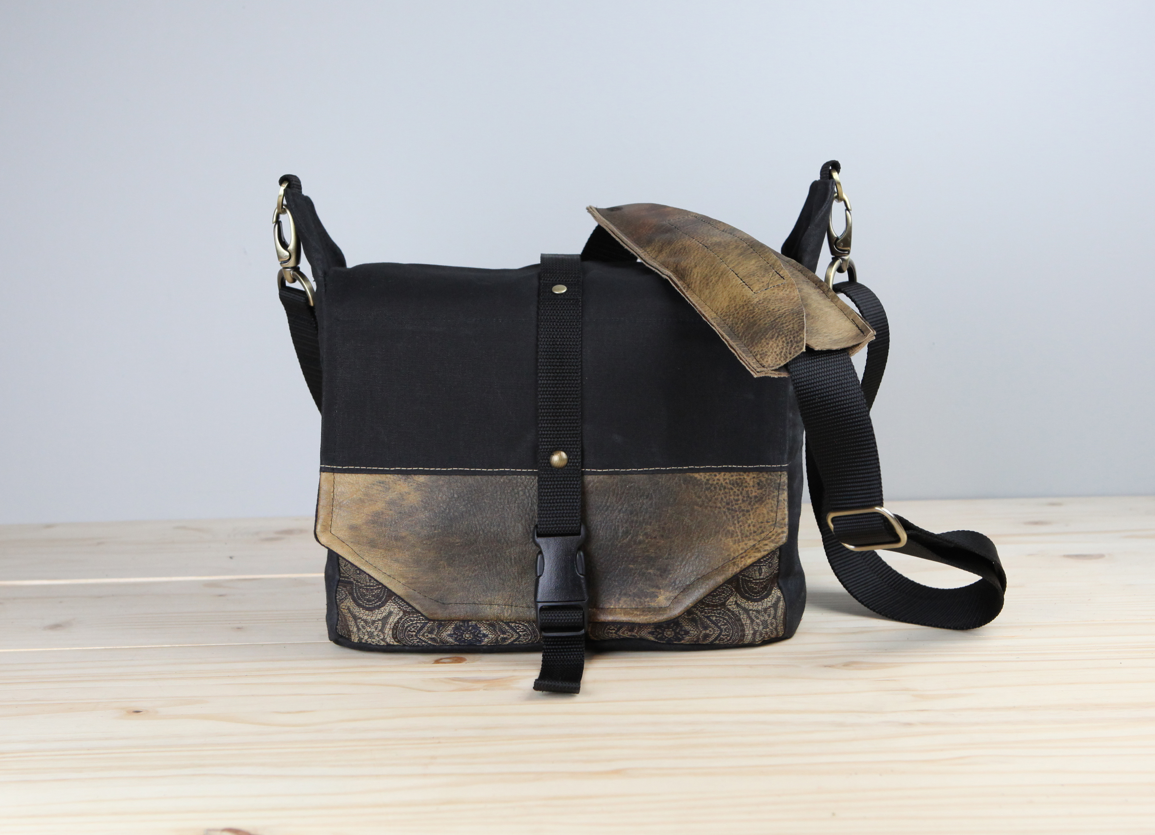 82bf68b12222 Handmade Travel Camera Bag Backpack Packable Camera Bag Waxed Canvas and  Leather