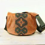 Medium Aztec and Chestnut Leather Camera Satchel Bag DSLR- IN-STOCK