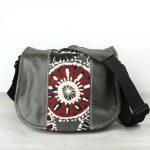 Medium Red Black Floral Leather Camera Satchel Bag DSLR- IN-STOCK