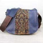 Medium Dark Blue Tapestry Indigo Satchel Bag DSLR- IN-STOCK