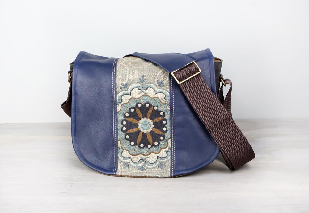 Handmade Leather Camera Bag Gray Blue Fl Dslr Pre Order