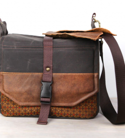 Handmade Travel Camera Bag Backpack Packable Waxed Canvas And Leather