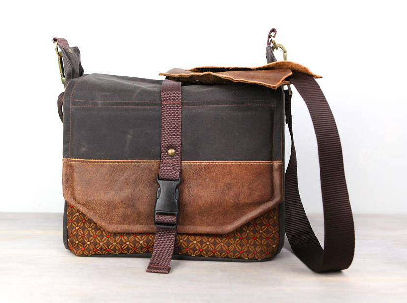 Handmade Travel Camera Bag Backpack Packable Camera Bag Waxed Canvas and  Leather d9a4d5f144012